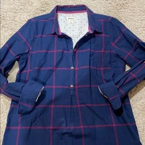 Gorgeous half button down tunic top by Hatley EUC